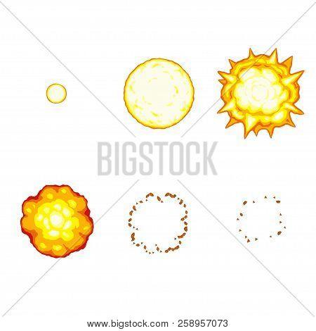 Vector Illustration Of Cartoon Explosion