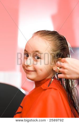 Girl At Hair Stylist