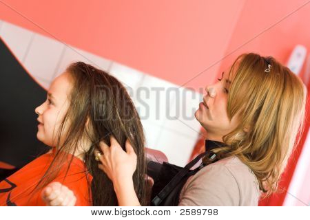 Child At The Hair Stylist