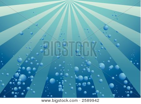 Background Of Blue Bubbles Effect