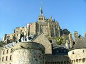 picture of mont saint michel  - View from below of the famous Mont - JPG