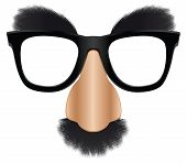 stock photo of incognito  - A version of the classic disguise mask easily added on to a face - JPG