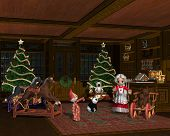 picture of storytime  - A cosy Christmas evening with grandma at story time in the toy store - JPG