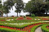 Formal Garden Flower Park In Opatija Croatia poster