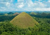 image of chocolate hills  - view over the famous chocolate hills on Bohol Philippines - JPG