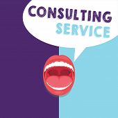 Handwriting Text Writing Consulting Service. Concept Meaning Experts That Offers Knowledge To A Thir poster