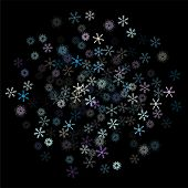 Falling Snow Confetti, Snowflakes Vector Element. Festive Winter, Christmas, New Year Party Pattern. poster
