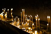 Candles Burning In The Orthodox Church. Candles Burning In The Orthodox Church. poster