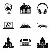 Culture Nation Icons Set. Simple Set Of 9 Culture Nation Icons For Web Isolated On White Background poster