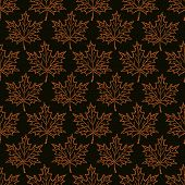 Seamless Pattern Maple Leaf Dots. Maple Leaf Circles-vector Illustration. On A Black Background Mapl poster