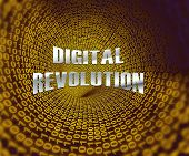 Digital Revolution Concept Futuristic Industry 3D Rendering poster