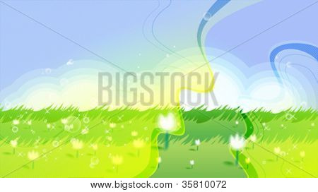 Shiny summer meadow background