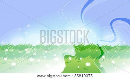 Beautiful meadow background