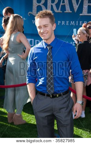 HOLLYWOOD, CA - JUNE 18: Jason Dolley arrives at the Los Angeles Film Festival premiere of 'Brave' at Dolby Theatre on June 18, 2012 in Hollywood, California.