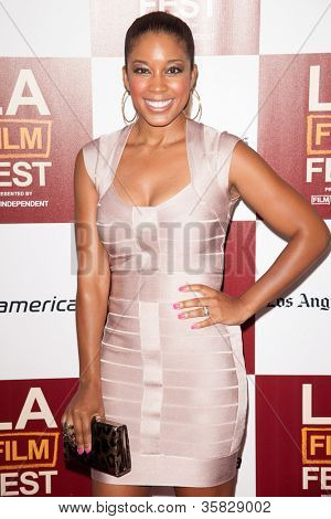 LOS ANGELES, CA - JUNE 20: Reagan Gomez arrives at the Los Angeles Film Festival premiere of 'Middle of Nowhere' at Regal Cinemas L.A. LIVE 1 on June 20, 2012 in Los Angeles, California.