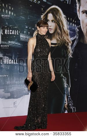 BERLIN, GERMANY - AUGUST 13: Jessica Biel at the German premiere of 'Total Recall' at Sony Center on August 13, 2012 in Berlin, Germany