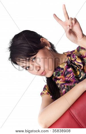 Young Woman Expressing Her Emotions To The Camera