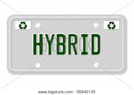 Matrículas de coche híbrido