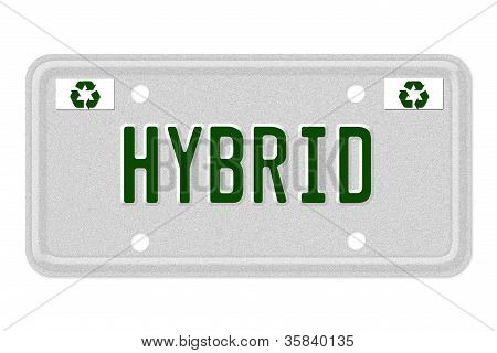 Hybrid Car License Plate