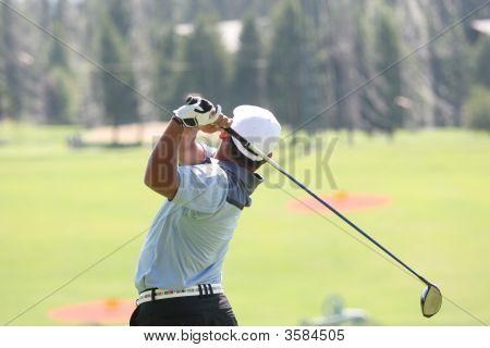 Golfer In Crans-Montana, Switzerland,