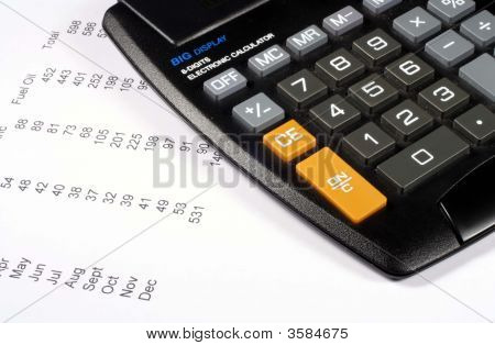 Calculator And Bills