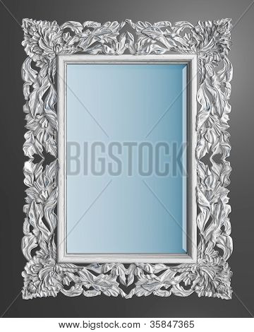 The Classic Frame On A Gray Background