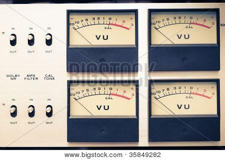 vintage analog volume meter