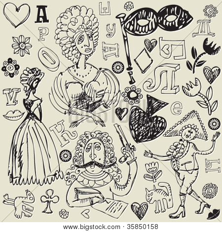 antique crazy doodles