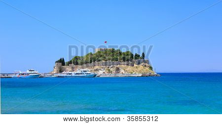 Bird Island in of Kusadasi in Turkey.