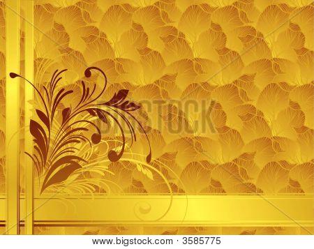 Gold Floral Background