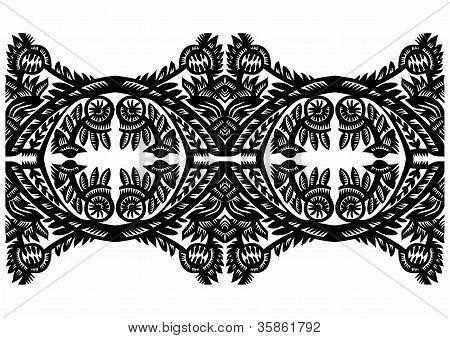 Black Floral Decor