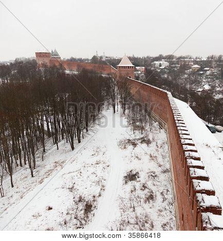 Kremlin wall. Smolensk. Russia.