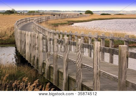 Longest wooden pedestrian bridge in Denmark