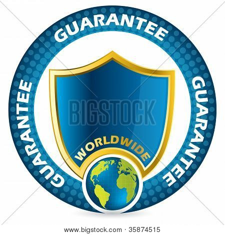 Worldwide Guarantee Icon Design