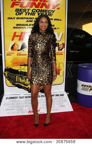 "LOS ANGELES - AUG 14:  Joy Bryant arrives at the ""Hit & Run"" Los Angeles Premiere at Regal Cinema on August 14, 2012 in Los Angeles, CA"