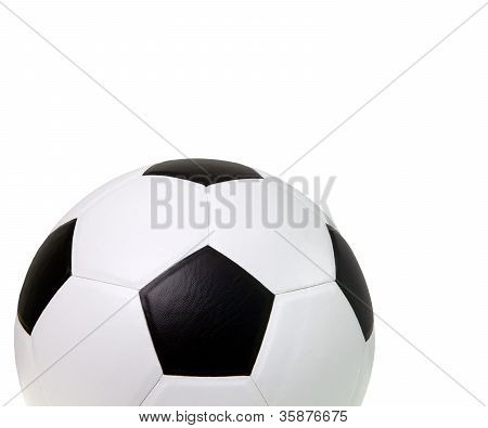 soccer football isolated white
