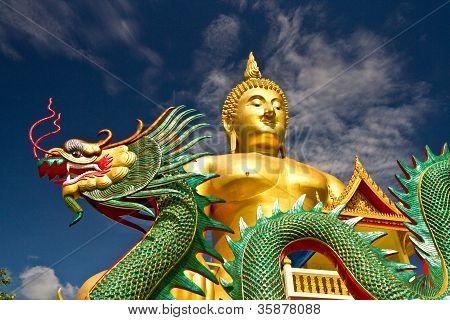 Golden Buddha Wat Muang Thailand