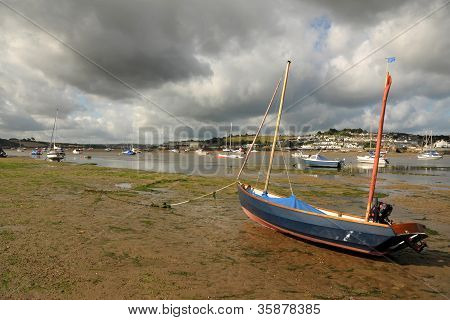 Storm clouds over the estuary