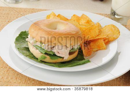 Tunafish Bagel Sandwich