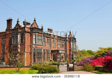 Stately home in Cheshire, England