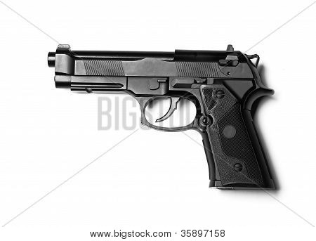 gun isolated on white