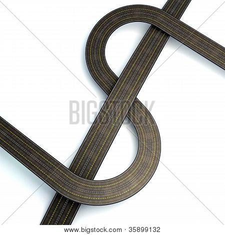 Dollar Shaped Road