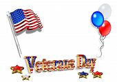 Veterans Day Background 3D poster