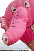READINGTON, NJ-JUL 29: A close up of the Nelly B Pink Elephant balloon as it was tethered to the gro