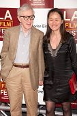 LOS ANGELES, CA - JUNE 14: Woody & Soon Yee Allen arrive at the Los Angeles Film Festival premiere o