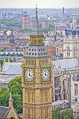 Постер, плакат: Вид на Лондон и Биг Бен