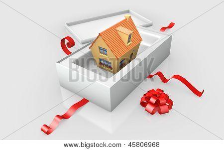 a -  in a white cardboard