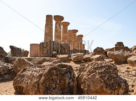 Remains Of The Temple Of Heracles