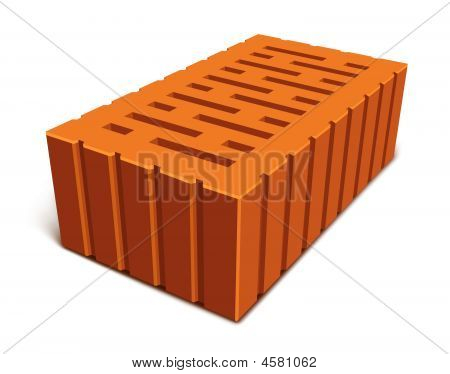 Isolated Brick For House Construction