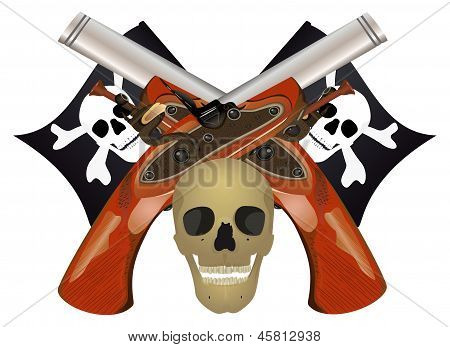 Skull With The Crossed Pistols.